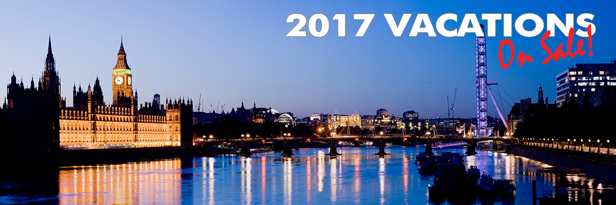 2017 Vacations On Sale Now!