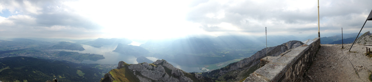 Mt. Pilatus view from the top in Lucerne