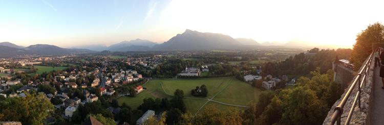 View from Hohensalzburg Castle in Salzburg