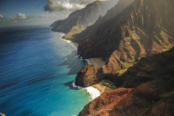 Na Pali Coastline Aerial View