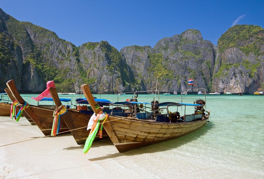 Famous Maya bay of Phi-phi Leh island