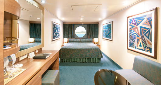 Ocean View Stateroom - The image shown is representative of a MSC Fantasia-class ship.