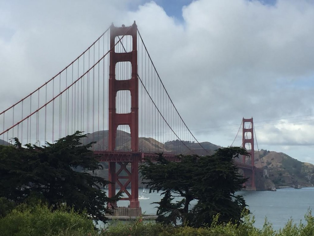 golden gate bridge with trafalgar tours