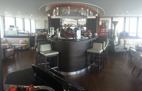 Rhine River Cruise- Bar Inside Ship
