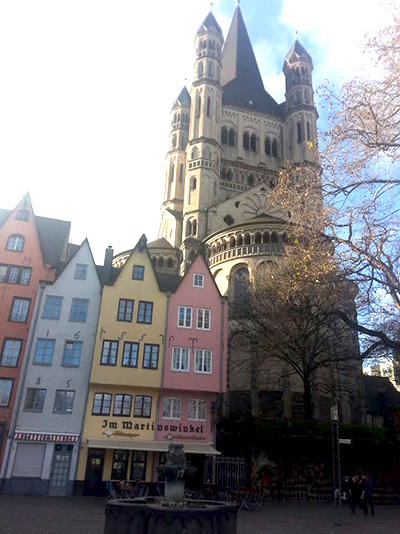 Rhine River Cruise- Great St. Martin Church, Cologne Germany