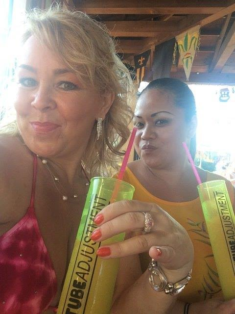 Enjoying Some Drinkgs At Playa Mia Beach