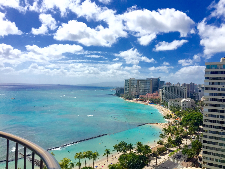 View From The Marriott Waikiki Beach Hotel - Hawaii Trafalgar