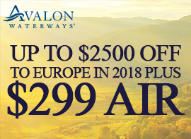 Save Up To $2500 + Receive $299 Air On Select 2018 Europe River Cruises