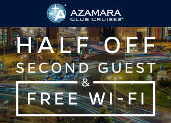 Half Off Second Guest & Free Wi-Fi With Azamara!