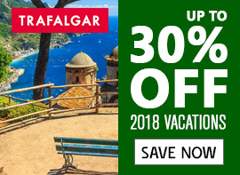Trafalgar Vacations Up To 30% Off