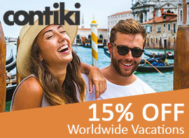 15% Off Contiki Vacations